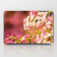 Pretty and Pink crab apple blossoms iPad Case
