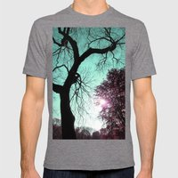 Wishing Tree Mens Fitted Tee Tri-Grey SMALL