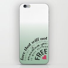 Love will set you free iPhone & iPod Skin