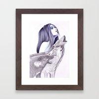 Call Of The Wolves Framed Art Print