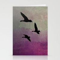 Goose Flight - JUSTART © Stationery Cards