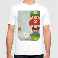 mario bros 2 fan art Mens Fitted Tee SMALL White