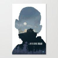The Walking Dead - Seaso… Canvas Print