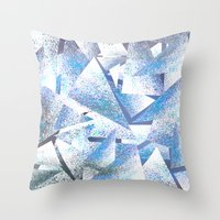 shattered sparkly ice Throw Pillow
