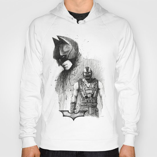 Bat In Black (The Dark Knight Rises) Hoody