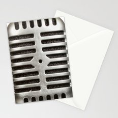 Vintage Microphone Stationery Cards
