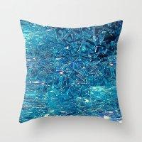 Broken and blue Throw Pillow