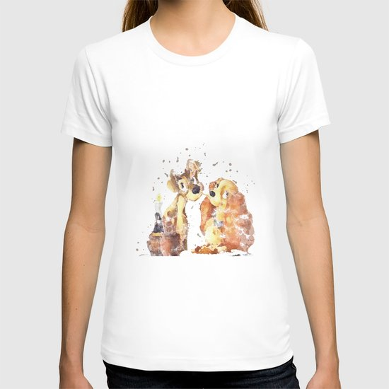 Lady And The Tramp Disneys T Shirt By Carma Zoe Society6