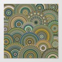 Mandala Mania-Mineral Co… Canvas Print
