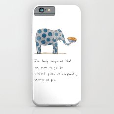 polka dot elephants serving us pie iPhone 6 Slim Case