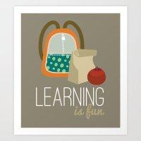 Backpacks & lunch sacks Art Print