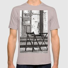 Just Two Chairs - Catania - Sicily - Italy  Mens Fitted Tee Cinder SMALL