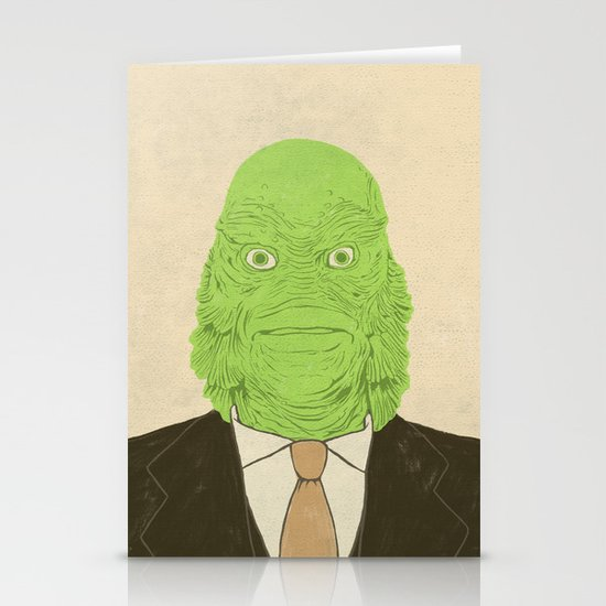 Young Professional from the Black Lagoon Stationery Card