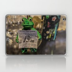Froggy Reads the Wall Street Journal Laptop & iPad Skin
