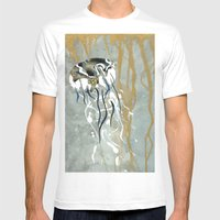 Jellyfish Voyage Mens Fitted Tee White SMALL