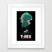Visit Our T-Rex! Framed Art Print