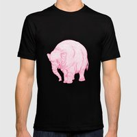 Pink Elephant Mens Fitted Tee Black SMALL