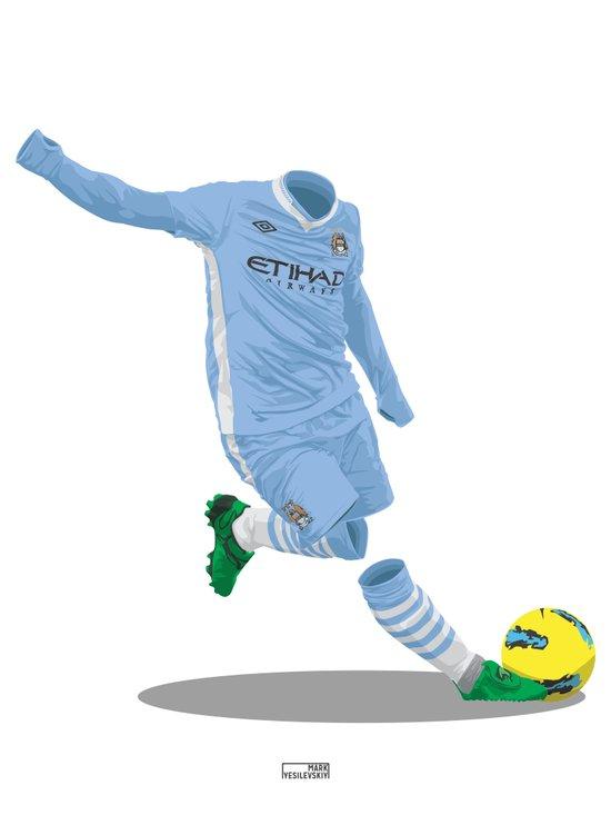 Manchester City 2011/12 Art Print
