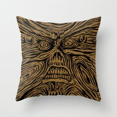 book looks like a face Throw Pillow