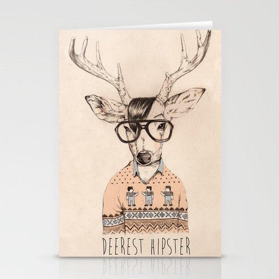 Deerest hipster Stationery Card