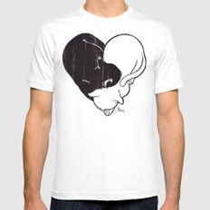 Cat Love  Mens Fitted Tee White SMALL