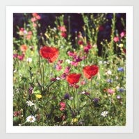 A floral spot on Earth Art Print