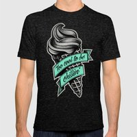 Too Cool to Be Chillin' Mens Fitted Tee Tri-Black SMALL