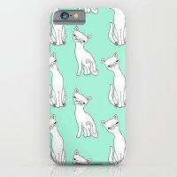Mint And White Retro Cat… iPhone 6 Slim Case