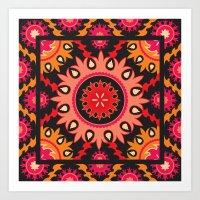 Ethnic Asian Ornament Art Print