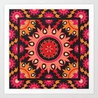 Ethnic asian ornament Art Print