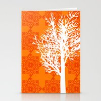 Stationery Card featuring Orange Tree silhouette by ialbert