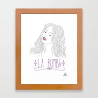 La Bomba Framed Art Print