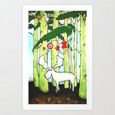 Moose In Washington Art Print