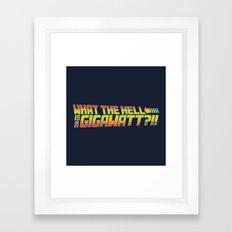One Point Twenty One Framed Art Print