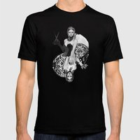Queen of Scissors Mens Fitted Tee Black SMALL