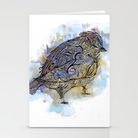 Watercolor Sparrow Stationery Cards