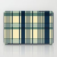 Blue Plaid Pattern iPad Case