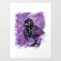Crying Crow Art Print