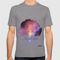 Tree of Light Mens Fitted Tee Tri-Grey SMALL