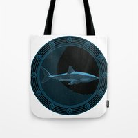 Engraved Shark Tote Bag