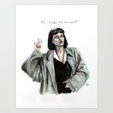 Mia Wallace  Art Print