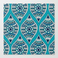 Morocco In Teal Canvas Print
