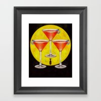 Atomic Martini Sunrise Framed Art Print