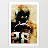 Quarterback Art Print