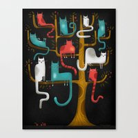 TREE CATS Canvas Print