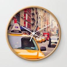 NYC Yellow Cab Wall Clock