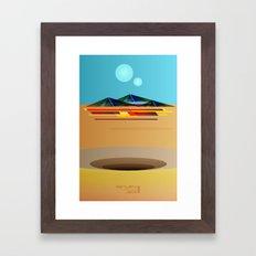 Return of the Jedi Minimal Film Poster Framed Art Print