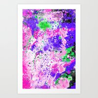 Watercolour Paint Splash Art Print