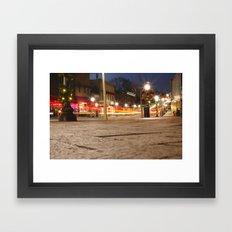 Downtown Blacksburg Christmas Framed Art Print