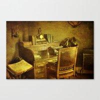 Grandpa's Desk Canvas Print